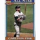 1991 Topps 393 Carlton Fisk AS