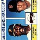 1984 Topps 576 Jeff Leonard/Atlee Hammaker TL