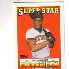 1988 Topps/O-Pee-Chee Sticker Backs 38 Lou Whitaker