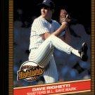 1986 Donruss Highlights #52 Dave Righetti