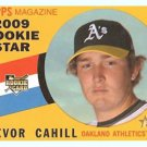 2009 Topps Heritage 711 Trevor Cahill SP RC