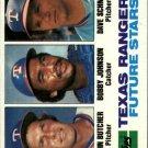 1982 Topps 418 John Butcher/Bobby Johnson RC/Dave Schmidt RC