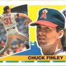 1990 Topps Big 319 Chuck Finley