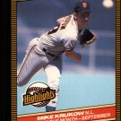 1986 Donruss Highlights 49 Mike Krukow