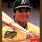 1986 Donruss Highlights 55 Jose Canseco