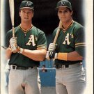 1988 Topps 759 Mark McGwire/Jose Canseco TL UER