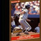 1986 Donruss Highlights 1 Will Clark