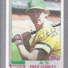 1982 Topps 787 Fred Stanley