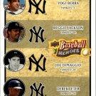 2008 Upper Deck Heroes 197 Yogi Berra/Reggie Jackson/Joe DiMaggio/Derek Jeter