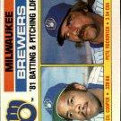 1982 Topps #703 Cecil Cooper/Pete Vuckovich TL