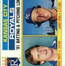 1982 Topps 96 Royals TL/George Brett