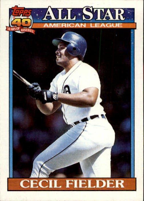 1991 Topps 386 Cecil Fielder AS