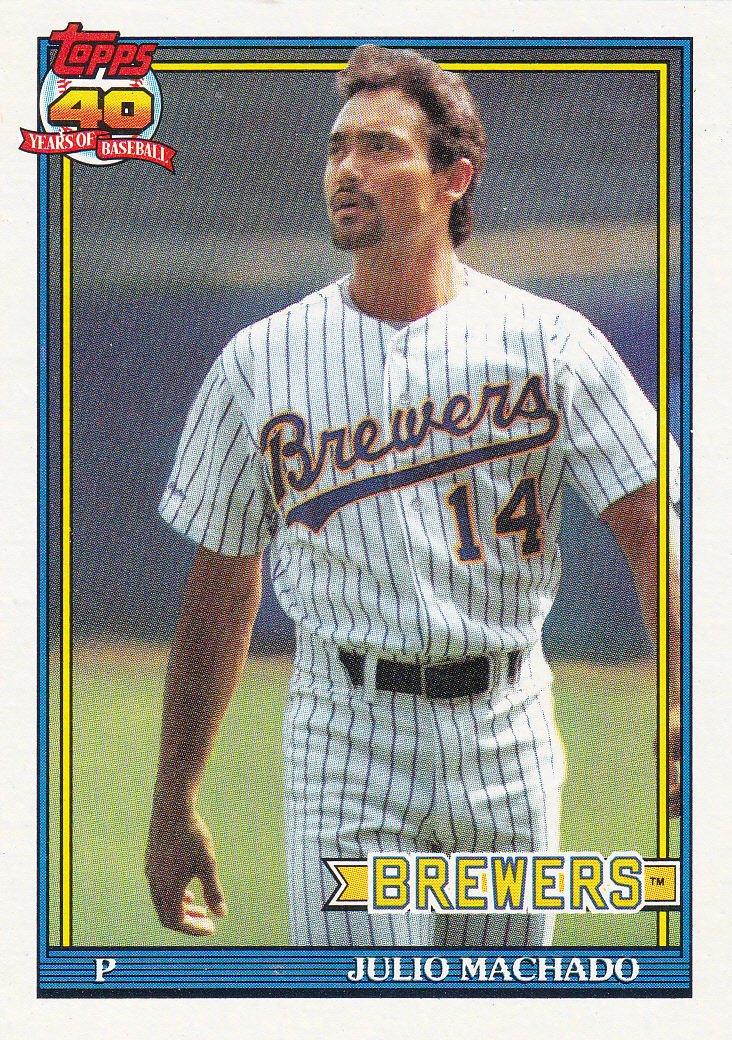 1991 Topps 434 Julio Machado