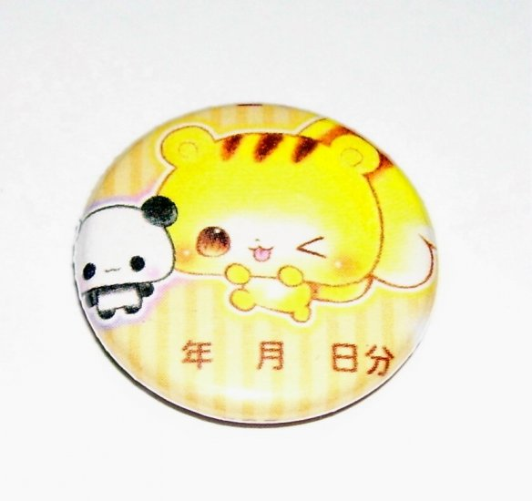 Squirrel and Panda Friends, japanese kawaii pinback badge