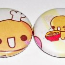 Crux Natto Chan, handmade japanese kawaii pinback button set