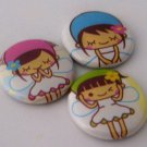 Kawaii Fairies, japanese pinback badge set