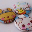 Bunny Bathtime, japanese kawaii pinback badge set