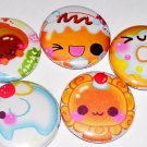 Bakery Cuties - Cute Food, japanese pinback pin button badge set