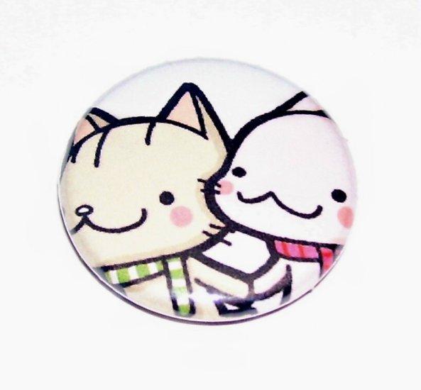 BFF, kawaii pinback button pin badge