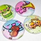 Kawaii Music Orchestra, japanese pinback pin button badge set