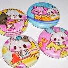Funny Park, japanese kawaii pinback pins buttons badges