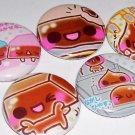 CHOCOLATE CUTIES japanese food kawaii button magnets