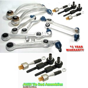 Audi A4 A6 Passat CONTROL ARM KIT +2 Tie Rod Assembly