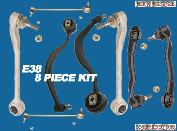 NEW BMW E38 8 Piece Control Arm Kit 740i 740il 750il