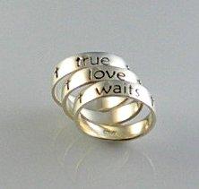 Sterling Silver Ladies True Love Waits Ring