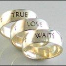 Sterling Silver Men's True Love Waits Ring