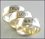 Sterling Silver Men's True Love Waits Ring