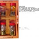 "Set of Anointing Oil, Holy Water, Holy Earth, Frankinscense  & Cross ~ Set Box Size: 6"" x 3"""