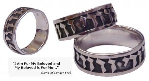 I Am for My Beloved - Silver Promise Ring