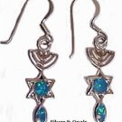 Silver & Opals Messianic Earrings