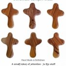 Olivewood Comfort Cross /Set of 6