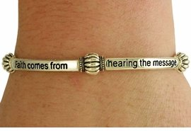 Faith Comes From Hearing  - Romans 10:17 Bracelet - Gold Tone
