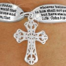 """John 3:16 """"For God So Loved The World That He Gave His One And Only Son -  Bracelet"""
