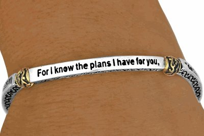 Jeremiah 29:11 For I Know The Plans I Have For You, Declares The LORD  -  Bracelet