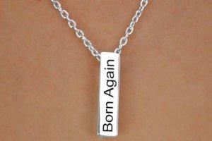 Born Again Christian. Glorify Him  -  Charm and Necklace
