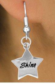 """Shine"" Heart Charm - Charm Measures - Choose Earring Style- 2 Options"