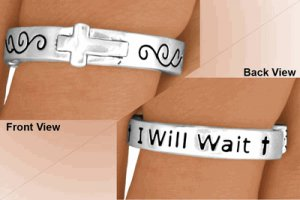 """Purity Ring - True Love Waits """"I Will Wait"""" Abstinence Ring Message"""