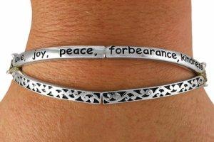 Love Joy Peace Forbearance Kindness Goodness Faithfulness Gentleness Self-Control Bracelet