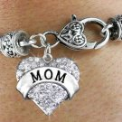 """""""MOM"""" Heart Charm Bracelet"""