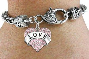 """""""LOVE"""" Heart Charm Bracelet"""