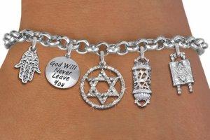 Jewish Heritage Themed Charm Bracelet