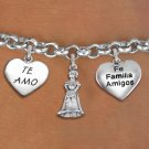 Quinceanera Special 15th Birthday Girl Themed Charm Bracelet
