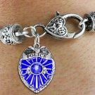 Policeman Shield Charm Bracelet