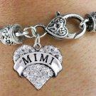 """MIMI"" Heart Charm Bracelet"