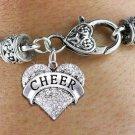 """""""CHEER"""" Heart Charm Bracelet"""