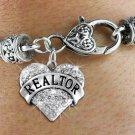 """""""REALTOR"""" Heart Charm Bracelet"""